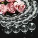 Beads, Imitation Crystal beads, Acrylic, Colourless, Spherical, Diameter 8mm, 10g, 40 Beads, (SLZ0481)